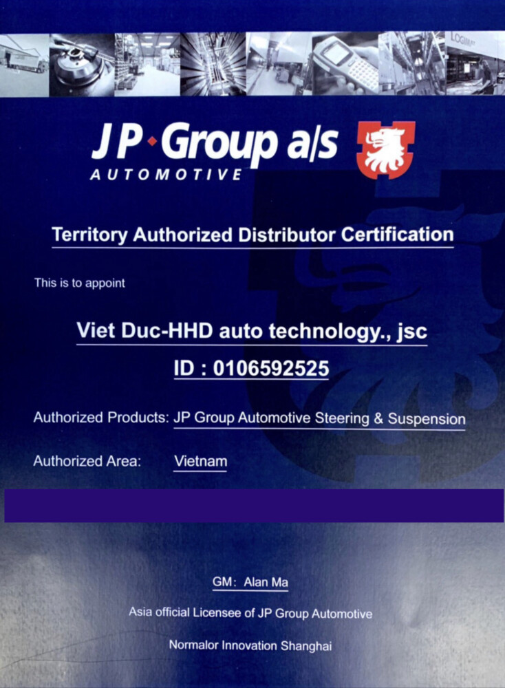 Certificate JPgroup